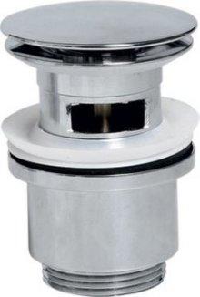 Uzavíratelná kulatá umyvadlová výpusť kliklak, velká zátka, V 30-50mm, chrom