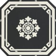 Old England Ottagono Black Dover - dlaždice osmihran 20x20