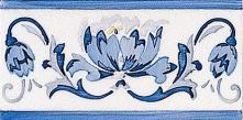 Modernista Cenefa Benidoleig PB Azul C/C B - obkládačka listela 7,5x15