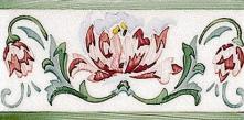 Modernista Cenefa Benidoleig PB Verde C/C B - obkládačka listela 7,5x15