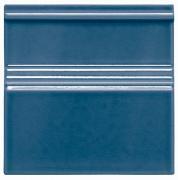 Modernista Rodápie Clasico C/C Azul Oscuro - obkládačka sokl 15x15