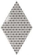 Rhombus Wall Pattern B&W - obkládačka 15,2x26,3