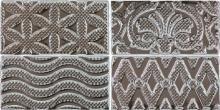Masia Jewel Silver - obkládačka inzerto 7,5x15 stříbrná