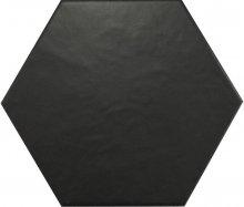Hexatile Negro mate - dlaždice šestihran 17,5x20 černá