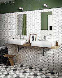 Scale Hexatile White mat - obkládačka 12,4x10,7 bílá