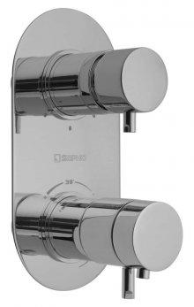 Rhapsody - podomítková sprchová termostatická baterie, 3 výstupy, chrom