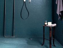 Boston Petrolio Mosaico Round - obkládačka mozaika 29,5x32,5 modrá