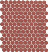 Color Now Marsala Mosaico Round - obkládačka mozaika 29,5x32,5 červená