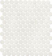 Color Now Ghiaccio Mosaico Round - obkládačka mozaika 29,5x32,5 bílá