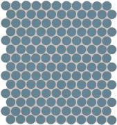 Color Now Avio Mosaico Round - obkládačka mozaika 29,5x32,5 modrá