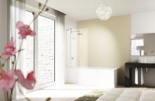 Design elegance - vanová zástěna 2-dílná sklapovací