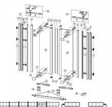 6 - náhradní těsnění ke dveřím Designer Jette Joop 1002 (pár)