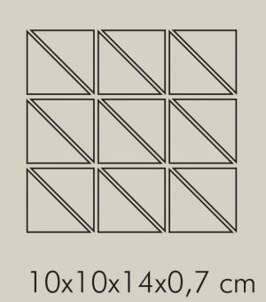 IN Cedro Rete RAL 1018 - dlaždice mozaika 10x10x14 žlutá matná