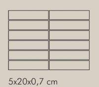 IN Argento Rete RAL 7044 - dlaždice mozaika 5x20 šedá matná