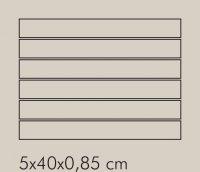 IN Argento Rete RAL 7044 - dlaždice mozaika 5x40 šedá matná