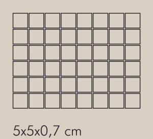 TR Argento Rete RAL 7044 - dlaždice mozaika 5x5 šedá lesklá