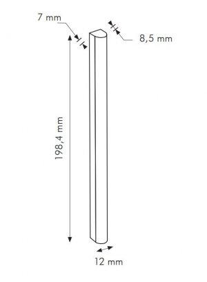TR Argento Stick RAL 7044 - dlaždice bombato 1,2x20 šedá lesklá