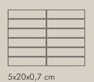 TR Argento Rete RAL 7044 - dlaždice mozaika 5x20 šedá lesklá