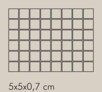 RF Grigio Rete RAL 7006 - dlaždice mozaika 5x5 šedá matná, R10