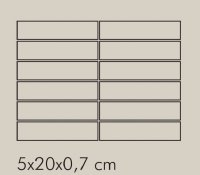 TR Ferro Rete RAL 8019 - dlaždice mozaika 5x20 šedá lesklá