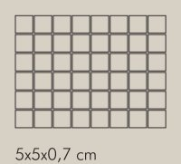 TR Ferro Rete RAL 8019 - dlaždice mozaika 5x5 šedá lesklá