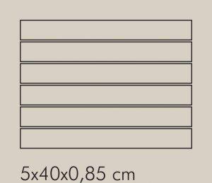 TR Ferro Rete RAL 8019 - dlaždice mozaika 5x40 šedá lesklá