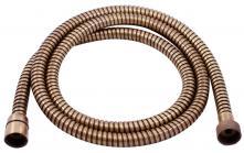 Sprchová hadice jednozámková, kovová, 150 cm, stará mosaz