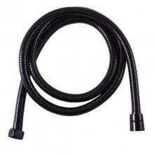 Sprchová hadice dvouzámková, kovová, 150 cm, černá