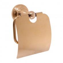 Držák toaletního papíru s krytem Morava zlato