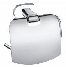 Držák toaletního papíru s krytem Yukon chrom/bílá