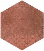 Cotti d´Italia terracotta decoro trame - dlaždice šestihran 21x18,2 hnědá