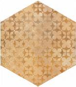 Cotti d´Italia beige decoro trame - dlaždice šestihran 21x18,2 béžová