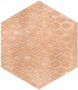 Cotti d´Italia rosato decoro trame - dlaždice šestihran 21x18,2 růžová