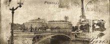 Postcard beige 1 inserto - obkládačka inzerto 20x50