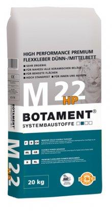 M 22 HP prémiový flexibilní lepicí tmel – tenkovrstvé/střední lůžko C2 TE S1, 20 kg