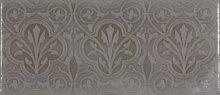 Maiolica Taupe Deco - obklad 11x25 šedá