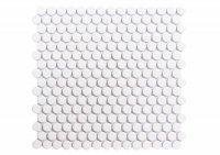Penny Round Blanco - obklad mozaika 32x29 bílá