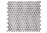 Penny Round Gris - obklad mozaika 32x29 šedá