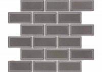Brick Grafito - obklad mozaika 34x29 šedá