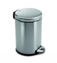 Pedálový odpadkový koš Simplehuman - 4,5 l, kulatý, matná ocel, FPP