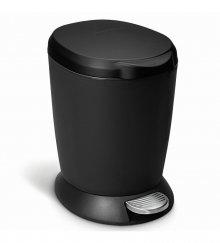 Pedálový odpadkový koš Simplehuman - 6 l, černý plast