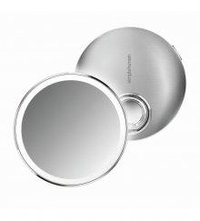 Kapesní kosmetické zrcátko Simplehuman sensor compact, LED osvětlení, dobíjecí, 3x, nerez