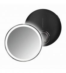 Kapesní kosmetické zrcátko Simplehuman sensor compact, LED osvětlení, dobíjecí, 3x, černé