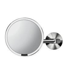 Kosmetické zrcátko na zeď Simplehuman Tru-Lux osvětlení, dobíjecí, 5x, lesklá nerez ocel