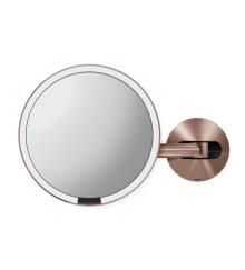 Kosmetické zrcátko na zeď Simplehuman Tru-Lux osvětlení, dobíjecí, 5x, rose gold