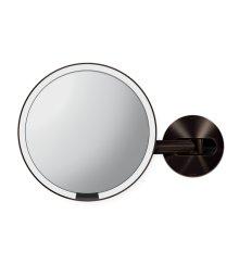 Kosmetické zrcátko na zeď Simplehuman Tru-Lux osvětlení, dobíjecí, 5x, dark bronze