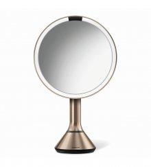 Kosmetické zrcátko na zeď Simplehuman sensor touch, LED osvětlení, dobíjecí, 5x, rose gold