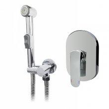 Baterie podomítková s bidetovou sprchou, Mada, chrom