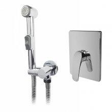 Baterie podomítková s bidetovou sprchou, Eve, chrom