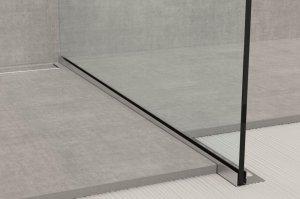 GPS1/DX/19 - profil pro vkládání skla sprchy do podlahy, 120 cm pravý, nerez ocel